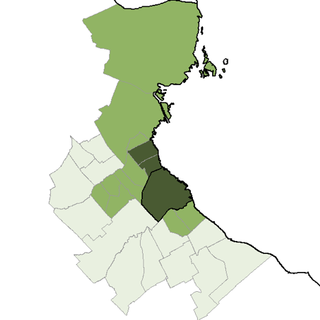 Figure 2: Percentage of homes with a personal computer in the Buenos Aires Metropolitan Area. (Source: National Institute of Statistics and Census, www.indec.gov.ar)